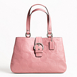 SOHO TEXTURED EMBOSSED LEATHER CARRYALL
