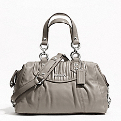 ASHLEY GATHERED LEATHER SATCHEL