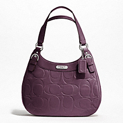 SOHO TEXTURED EMBOSSED LEATHER HOBO
