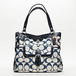 POPPY SIGNATURE C CROSSHATCH CANVAS GLAM TOTE