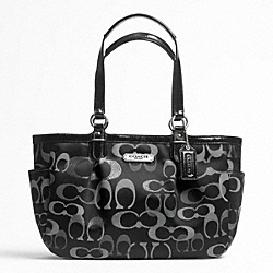 GALLERY OPTIC METALLIC SIGNATURE TOTE