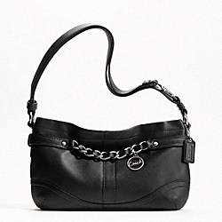 LEATHER E/W CHAIN DUFFLE