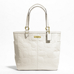 GALLERY EMBOSSED PATENT TOTE