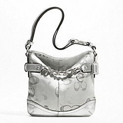 OPTIC METALLIC SIGNATURE CHAIN DUFFLE