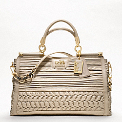 COACH MADISON CAROLINE IN PLEATED GATHERED LEATHER - GOLD/BEIGE - F19848