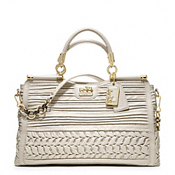 COACH MADISON PLEATED GATHERED LEATHER CAROLINE - ONE COLOR - F19848