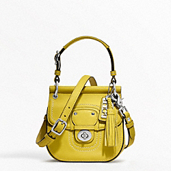 COACH LEATHER MINI NEW WILLIS - ONE COLOR - F19886