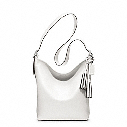 LEATHER DUFFLE - f19889 - SILVER/CHALK