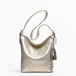 COACH METALLIC LEATHER DUFFLE - ONE COLOR - F19894