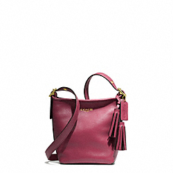 COACH LEATHER MINNIE DUFFLE - BRASS/DEEP PORT - F19901