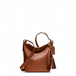COACH LEATHER MINNIE DUFFLE - ONE COLOR - F19901