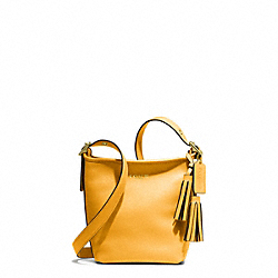 LEATHER MINNIE DUFFLE - f19901 - BRASS/MUSTARD