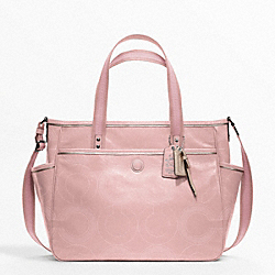 COACH BABY BAG STITCHED PATENT TOTE - ONE COLOR - F19911