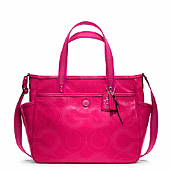 COACH BABY BAG TOTE IN STITCHED PATENT LEATHER - ONE COLOR - F19911