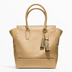 COACH LEATHER TANNER TOTE - BRASS/SAND - F19924