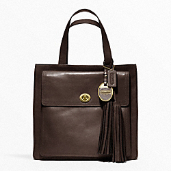 COACH AMERICAN ICONS POCKET TOTE - CHOCOLATE - F19982
