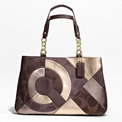INLAID PATCHWORK TOTE