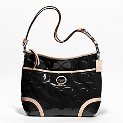 PEYTON EMBOSSED PATENT CONVERTIBLE HOBO