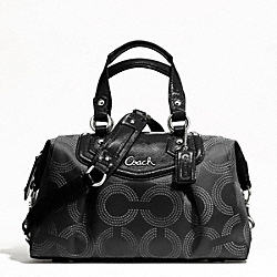 ASHLEY DOTTED OP ART SATCHEL