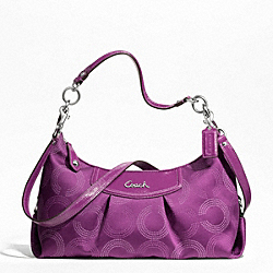 ASHLEY DOTTED OP ART CONVERTIBLE HOBO