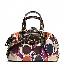 ASHLEY HAND DRAWN SCARF PRINT SATCHEL