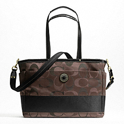 SIGNATURE STRIPE 3 COLOR SIGNATURE MULTIFUNCTION TOTE