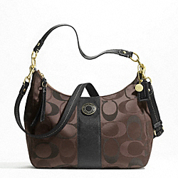 SIGNATURE STRIPE 3 COLOR SIGNATURE CONVERTIBLE HOBO