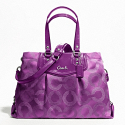 ASHLEY DOTTED OP ART CARRYALL