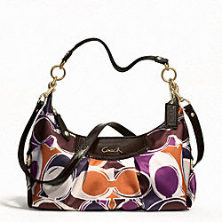 ASHLEY HAND DRAWN SCARF PRINT CONVERTIBLE HOBO
