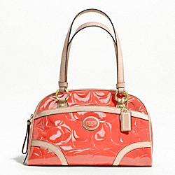 COACH PEYTON EMBOSSED PATENT SATCHEL - ONE COLOR - F20065