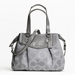 ASHLEY DOTTED OP ART SHOULDER BAG