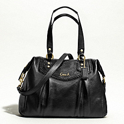 ASHLEY LEATHER SHOULDER BAG