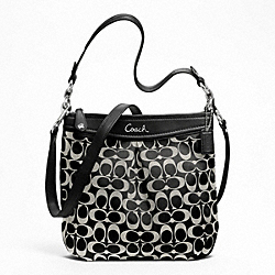 COACH ASHLEY SIGNATURE HIPPIE - SILVER/BLACK/WHITE/BLACK - F20111