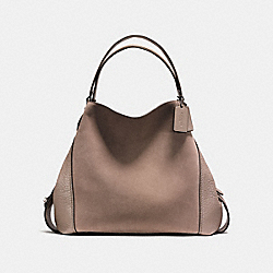 EDIE SHOULDER BAG 42 - STONE/DARK GUNMETAL - COACH F20163
