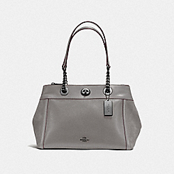 TURNLOCK EDIE CARRYALL - DK/HEATHER GREY - COACH F20165