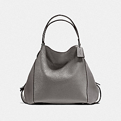 EDIE SHOULDER BAG 42 - DK/HEATHER GREY - COACH F20334