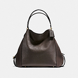 COACH EDIE SHOULDER BAG 42 - CHESTNUT/LIGHT GOLD - F20334