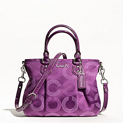 ASHLEY DOTTED OP ART MINI TOTE