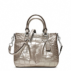 ASHLEY EMBOSSED CROC MINI TOTE