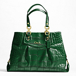 ASHLEY EMBOSSED CROC CARRYALL