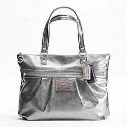 POPPY LEATHER GLAM TOTE