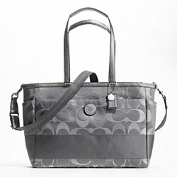SIGNATURE STRIPE 3 COLOR SIGNATURE METALLIC MULTIFUNCTION TOTE