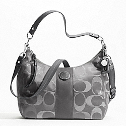 SIGNATURE STRIPE 3 COLOR SIGNATURE METALLIC CONVERTIBLE HOBO