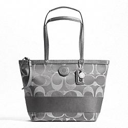 SIGNATURE STRIPE 3 COLOR SIGNATURE METALLIC TOTE