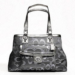 PENELOPE OPTIC METALLIC SIGNATURE CARRYALL