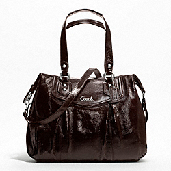 ASHLEY PATENT SHOULDER BAG