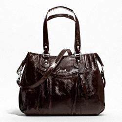 ASHLEY PATENT SHOULDER BAG