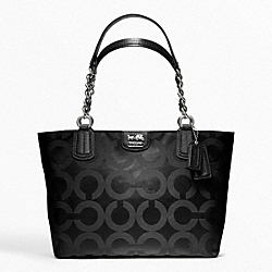 COACH MADISON OP ART SATEEN TOTE - ONE COLOR - F20481