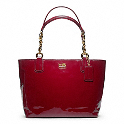 COACH MADISON PATENT TOTE - ONE COLOR - F20484