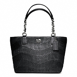 MADISON GATHERED LEATHER TOTE - f20522 - 24927